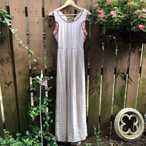 Fringe Brand Taupe Boho Style Maxi Dress Size M